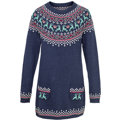 Fat Face Girls' Fair Isle Knitted Dress Review