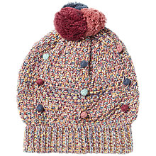 Buy Fat Face Children's Mini Bobble Beanie Hat, Red Online at johnlewis.com
