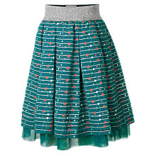 Buy Fat Face Girls' Star Party Skirt, Teal Online at johnlewis.com