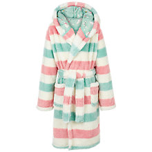 Buy Fat Face Children's Stripe Robe, Rose/Mint Online at johnlewis.com