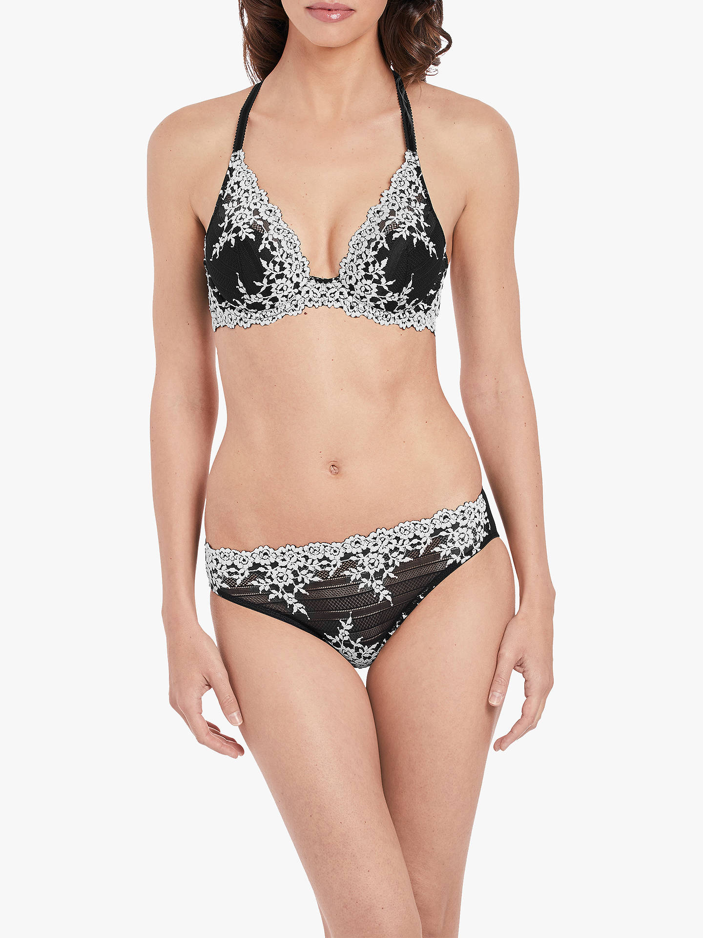 38ea66d685 Wacoal Embrace Lace Underwired Plunge Bra at John Lewis   Partners