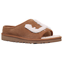 Buy UGG Slide Open Toe Slippers, Tan Suede Online at johnlewis.com