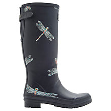 Buy Joules Dragonfly Adjustable Waterproof Wellington Boots, Navy Online at johnlewis.com