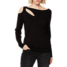 Buy Mint Velvet Cut Out Knit Jumper, Black Online at johnlewis.com
