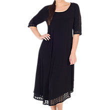 Buy Chesca Asymmetric Mesh Square Hem Jersey Dress, Black Online at johnlewis.com
