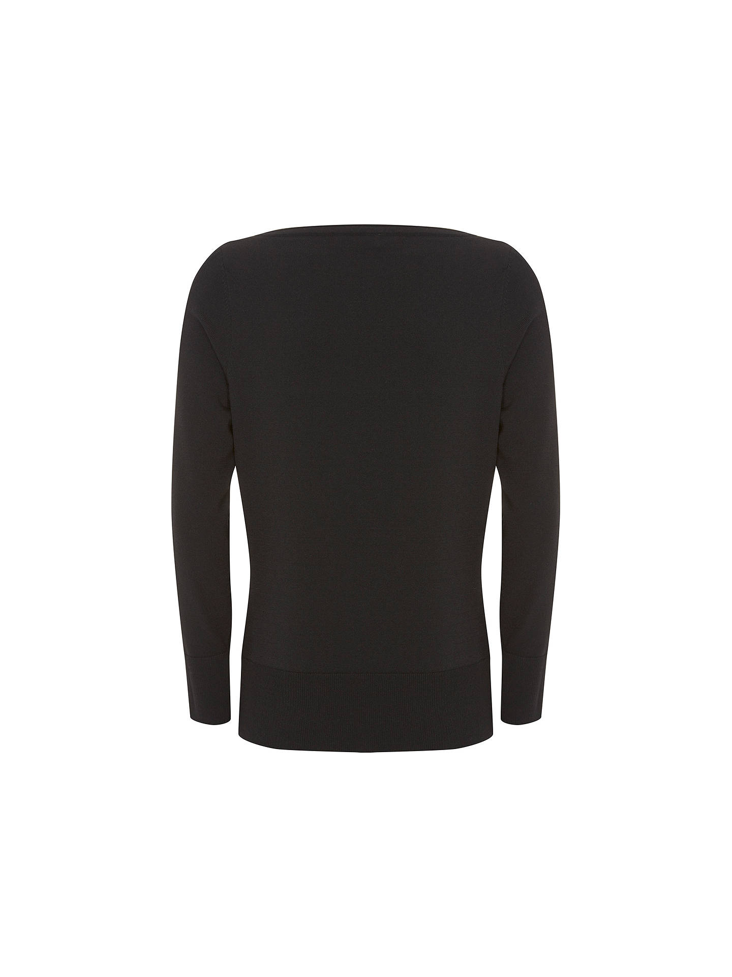 BuyMint Velvet Dobby Insert Jumper, Black, 6 Online at johnlewis.com