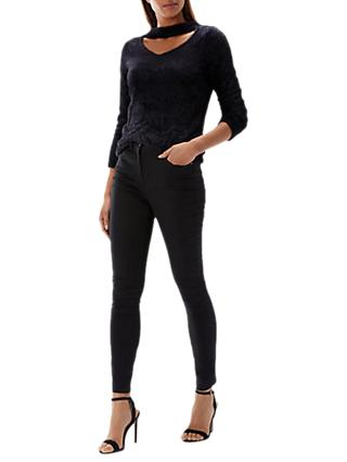 Coast Angelique V-Neck Knit Top, Black