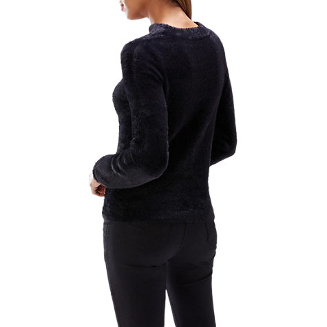 Buy Coast Angelique V-Neck Knit Top, Black Online at johnlewis.com