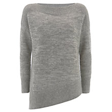Buy Mint Velvet Asymmetric Jumper, Metallic Online at johnlewis.com