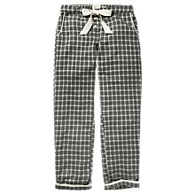 Buy Fat Face Grid Check Pyjama Bottoms, Charcoal Online at johnlewis.com