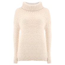 Buy Mint Velvet Textured Jumper, Winter White Online at johnlewis.com