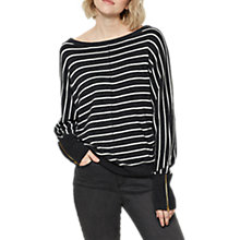 Buy Mint Velvet Stripe Batwing Jumper, Charcoal/Stripe Online at johnlewis.com