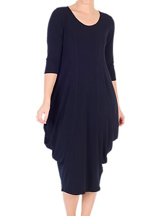Chesca Drape Jersey Dress, Navy