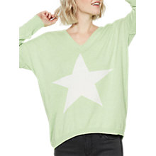 Buy Mint Velvet Star Front Cocoon Jumper, Lime Online at johnlewis.com