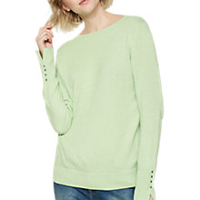 Buy Mint Velvet Crew Neck Jumper, Lime Marl Online at johnlewis.com