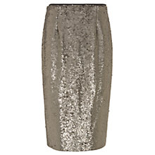 Buy Mint Velvet All Over Sequin Skirt, Taupe Online at johnlewis.com