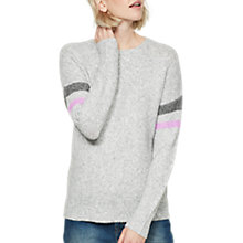 Buy Mint Velvet Dropped Shoulder Jumper, Silver Online at johnlewis.com