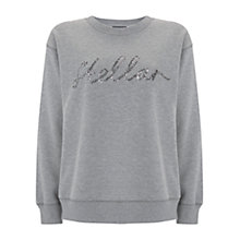 Buy Mint Velvet Stellar Sweatshirt, Silver Grey Online at johnlewis.com
