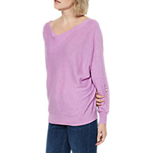 Buy Mint Velvet Zip Sleeve Batwing Jumper Online at johnlewis.com