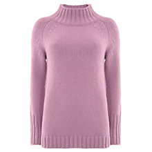 Buy Mint Velvet Funnel Neck Boxy Jumper, Light Purple Online at johnlewis.com