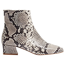 Buy Jigsaw Alde Block Heeled Boots, Black Snake Online at johnlewis.com