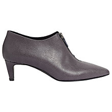 Buy Jigsaw Marzx Zip Front Shoe Boots, Gravel Online at johnlewis.com
