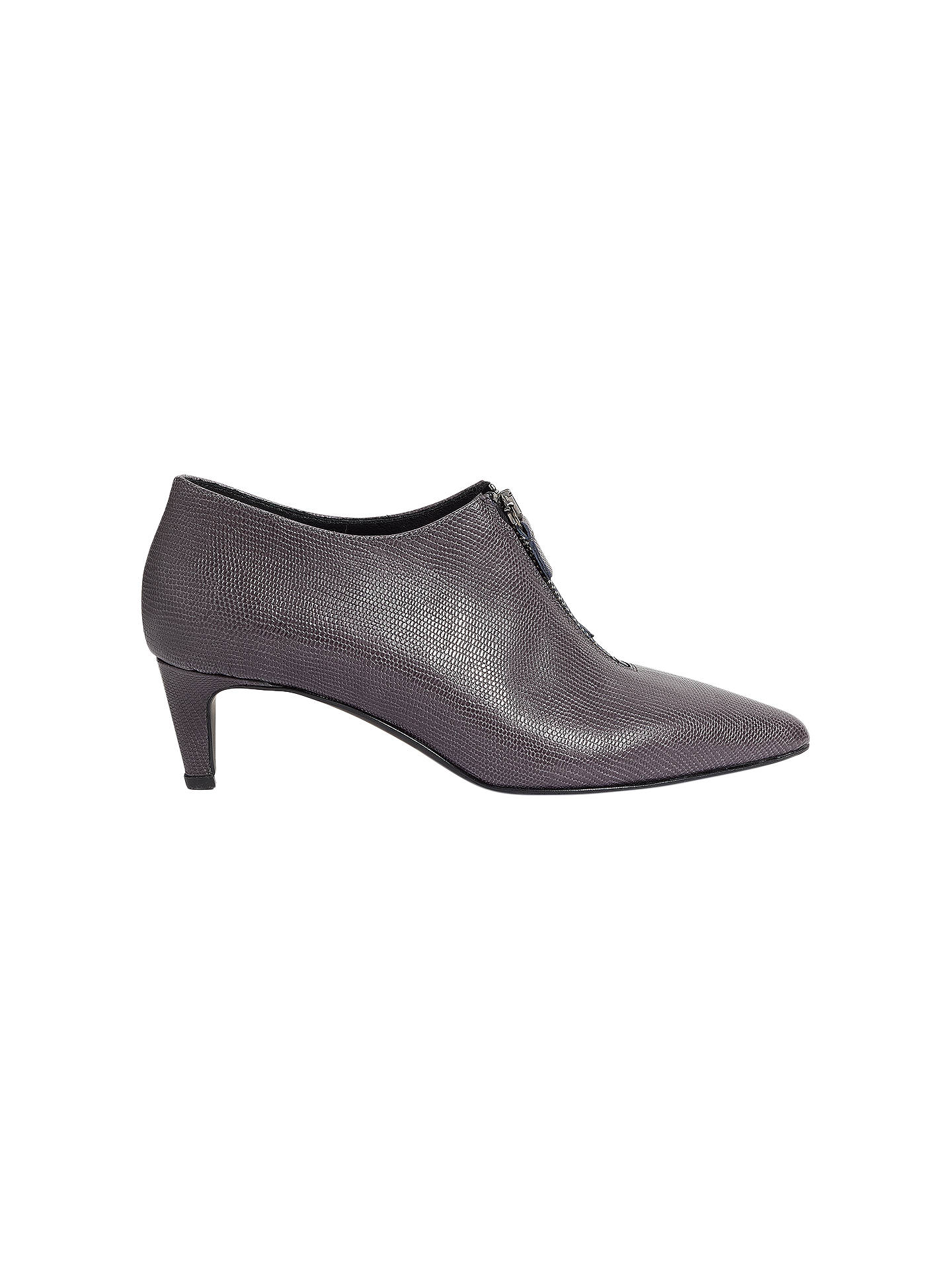 BuyJigsaw Marzx Zip Front Shoe Boots, Gravel, 3 Online at johnlewis.com