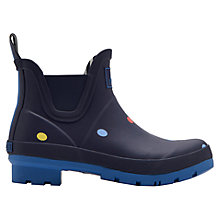 Buy Joules Wellibob Pop Spot Ankle High Wellington Boots, Navy Online at johnlewis.com