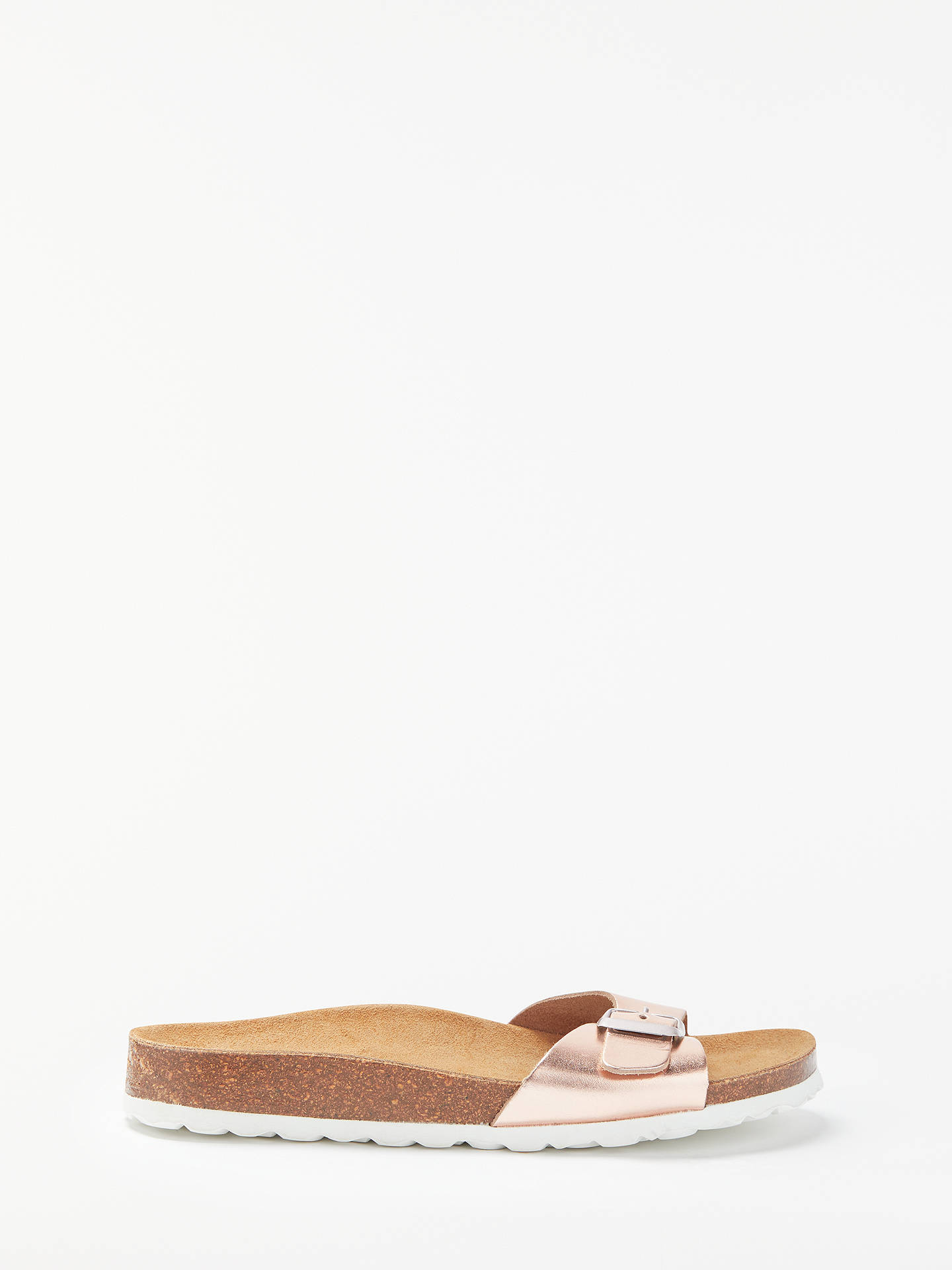 John Lewis Partners Livia Buckle Slider Sandals Rose Gold Tendencies Footbed 2 Strap Brown 41 Buyjohn Leather 3 Online At