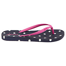 Buy Joules Spot Flip Flops, French Navy Online at johnlewis.com