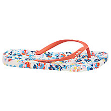 Buy Joules Garden Ditsy Flip Flops, Cream Online at johnlewis.com