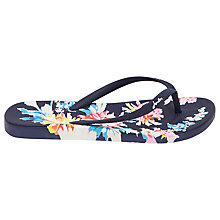 Buy Joules Whitstable Floral Flip Flops, Navy Online at johnlewis.com