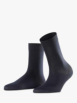 FALKE Cotton Touch Ankle Socks, Dark Navy