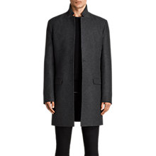 Buy AllSaints Meka Wool Rich Overcoat, Charcoal Grey Online at johnlewis.com