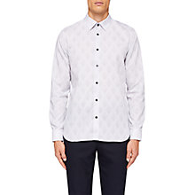 Buy Ted Baker Tikit Diamond Print Modern Fit Shirt Online at johnlewis.com