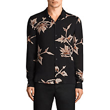 Buy AllSaints Tomales Long Sleeve Shirt, Black Online at johnlewis.com
