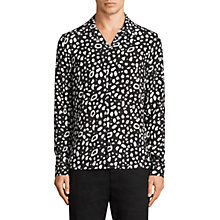 Buy AllSaints Panther Long Sleeve Shirt, Black/Chalk Online at johnlewis.com