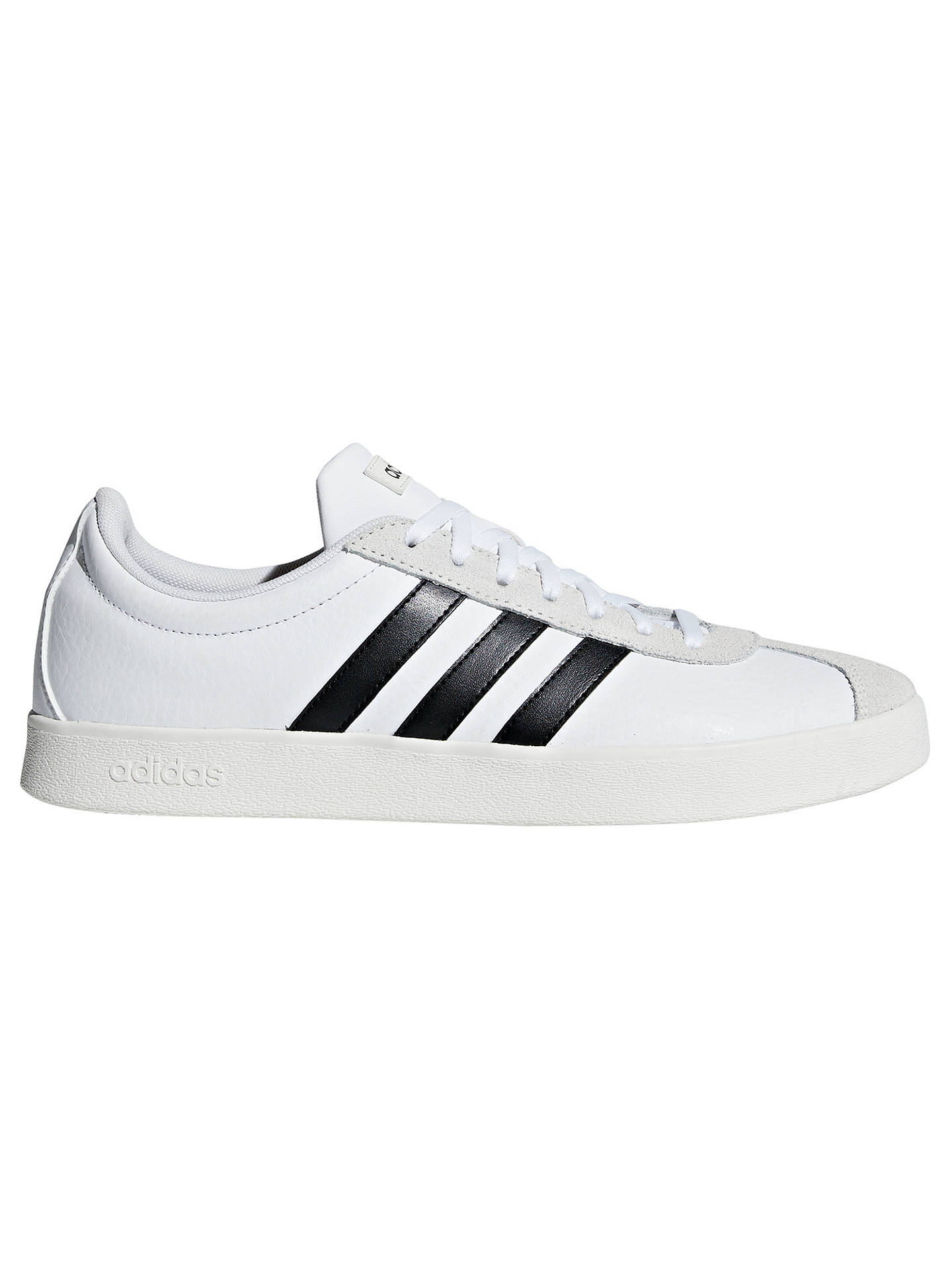 Buy adidas VL 2.0 Court Men's Trainers, White, 7 Online at johnlewis.com