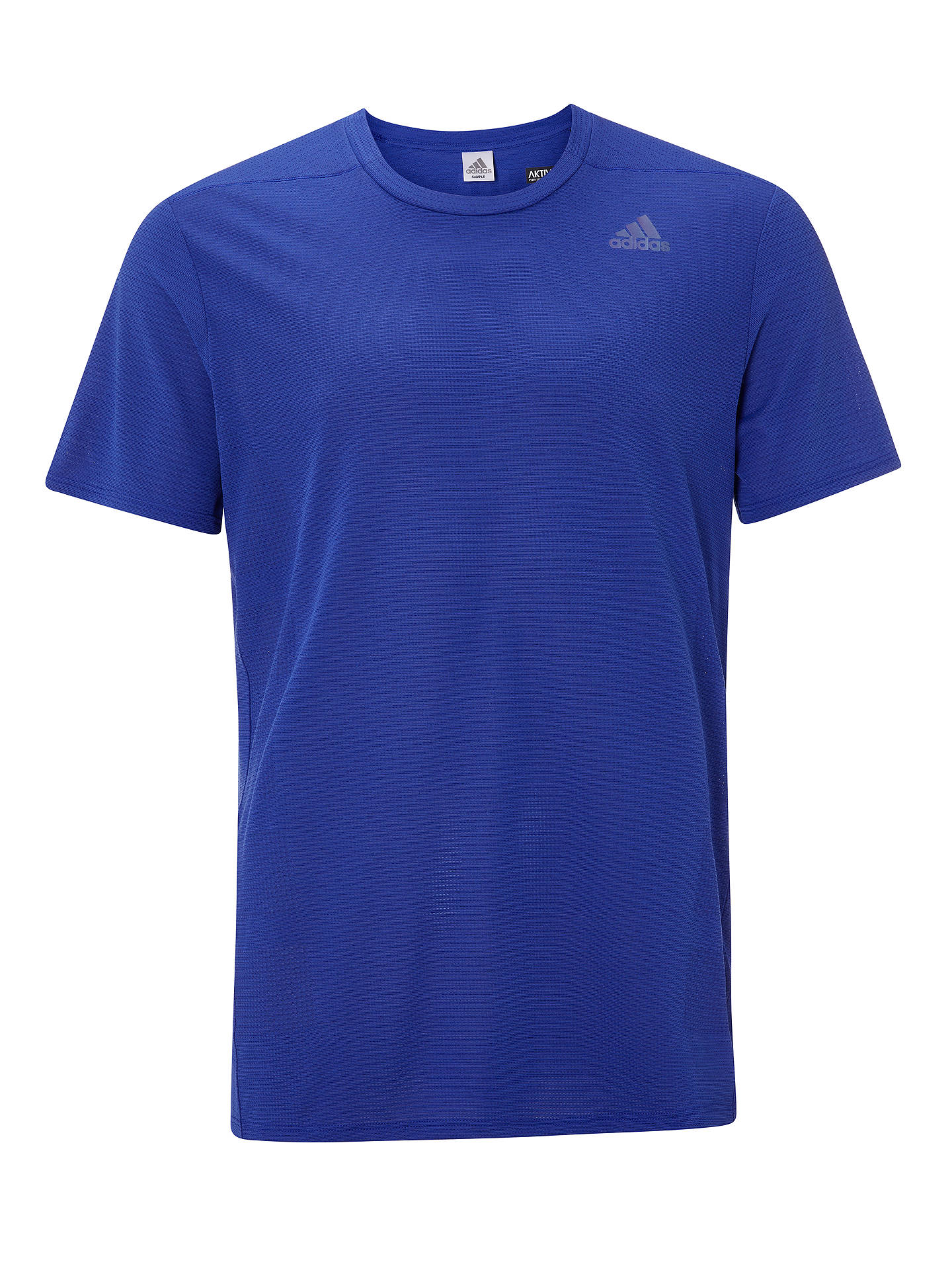 Buyadidas Supernova Short Sleeve Running Top, Blue, S Online at johnlewis.com