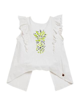 Angel & Rocket Girls' Pineapple Top, White