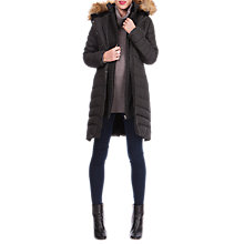 Buy Séraphine Danya Winter Down Maternity Parka Coat, Black Online at johnlewis.com