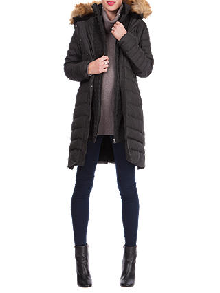 Buy Séraphine Danya Winter Down Maternity Parka Coat, Black, 8 Online at johnlewis.com