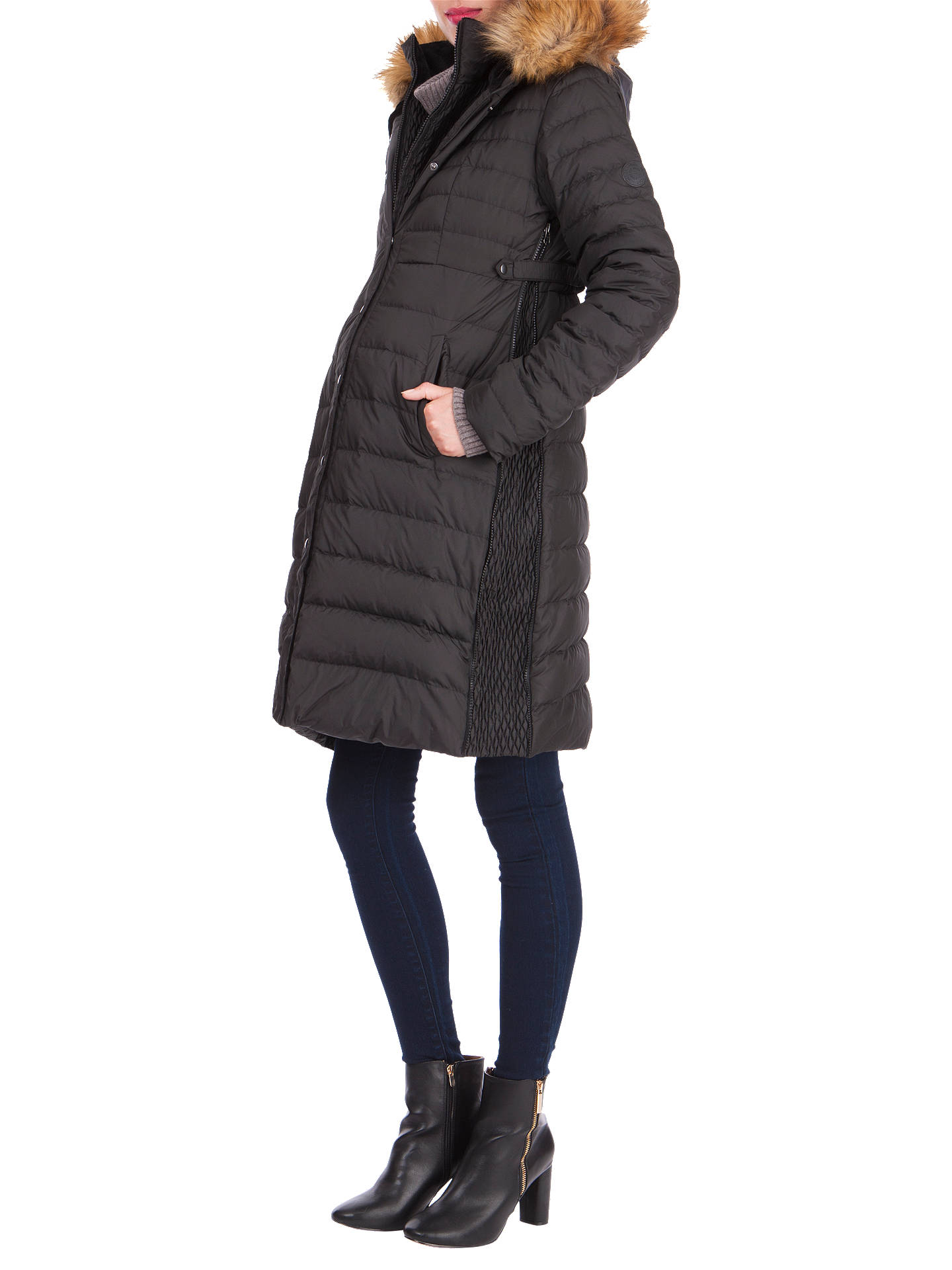 BuySéraphine Danya Winter Down Maternity Parka Coat, Black, 8 Online at johnlewis.com