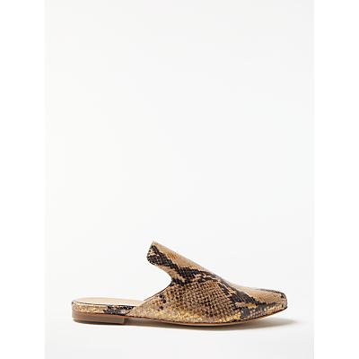 Modern Rarity Georgette Backless Slipper Loafers, Snake