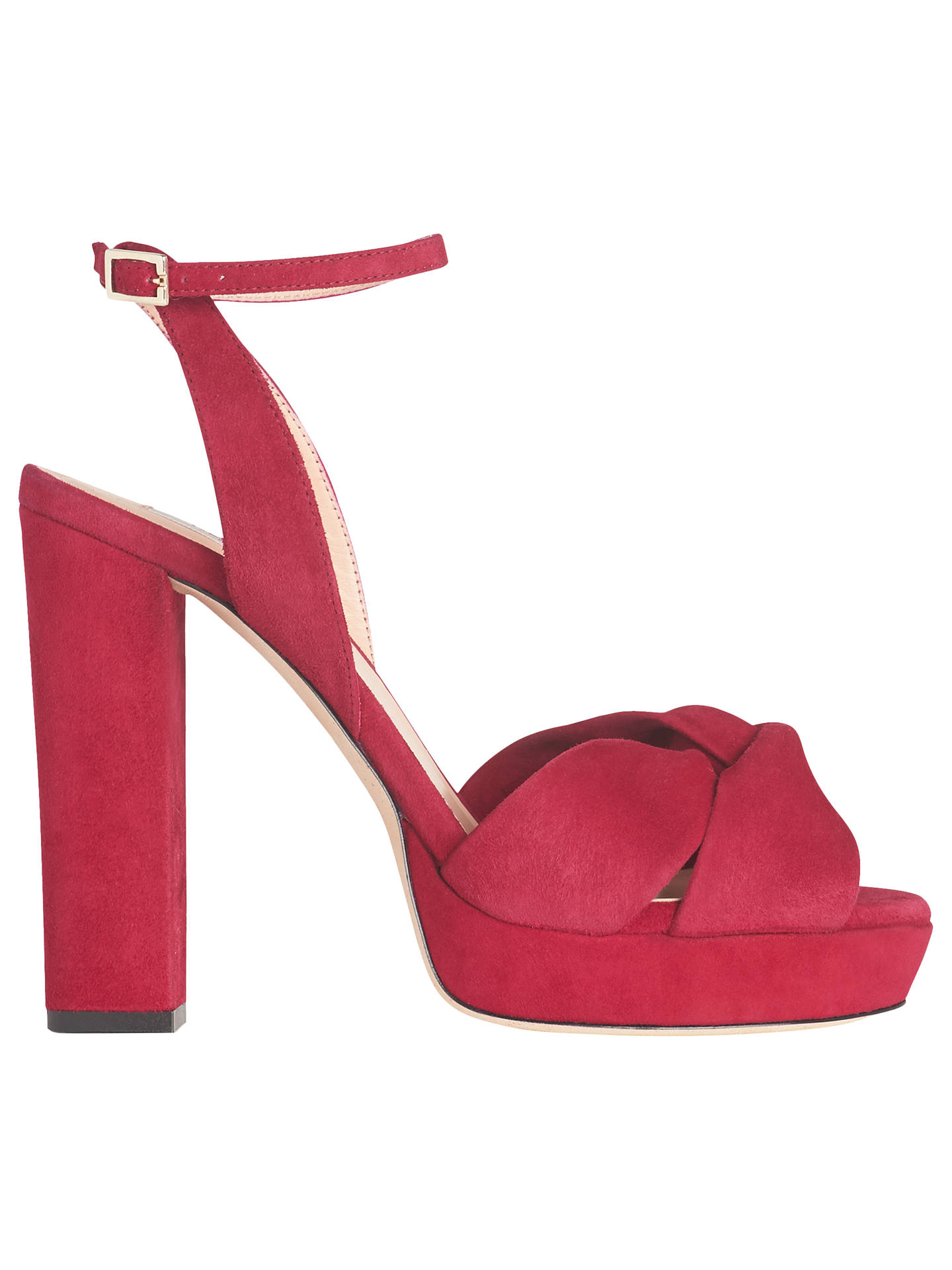 b95b3a5d0df L.K.Bennett Annabella High Block Heel Sandals at John Lewis & Partners