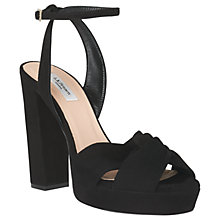 Buy L.K.Bennett Annabella High Block Heel Sandals, Black Suede Online at johnlewis.com