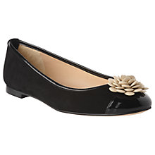 Buy L.K.Bennett Gina Flat Embellished Pumps, Black Suede Online at johnlewis.com