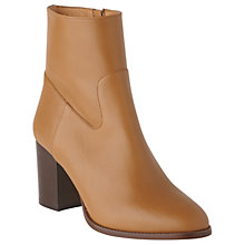 Buy L.K.Bennett Jourdani Mid Block Heel Ankle Boots, Cognac Online at johnlewis.com