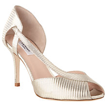 Buy L.K.Bennett Liya Peep Toe Sandals, Soft Gold Leather Online at johnlewis.com