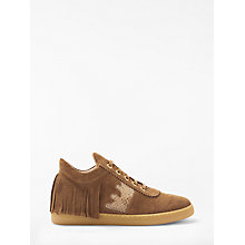 Buy AND/OR Estela High Top Trainers, Tan Suede Online at johnlewis.com